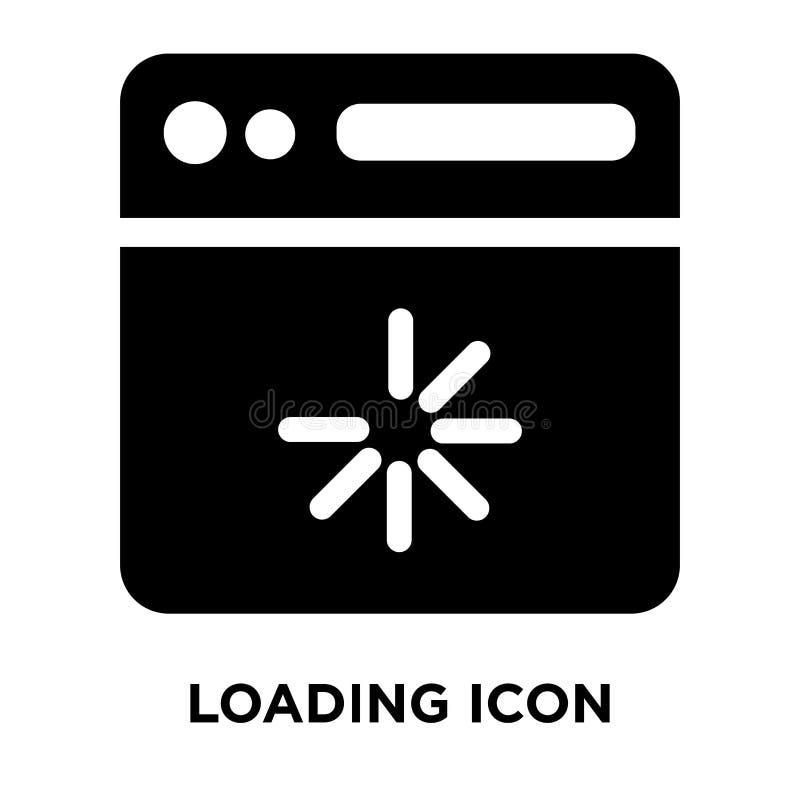 Loading icon vector isolated on white background, logo concept o. F Loading sign on transparent background, filled black symbol royalty free illustration