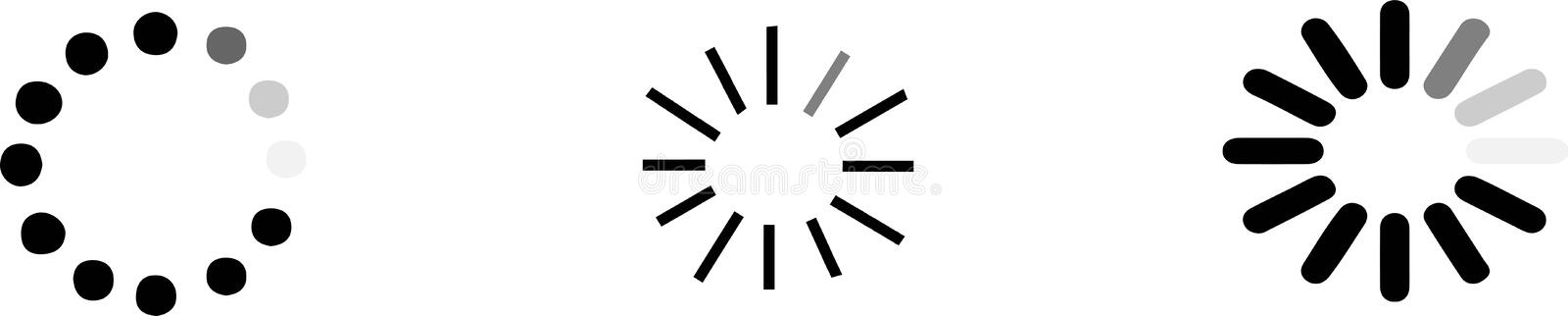 Loading icon on white background royalty free illustration