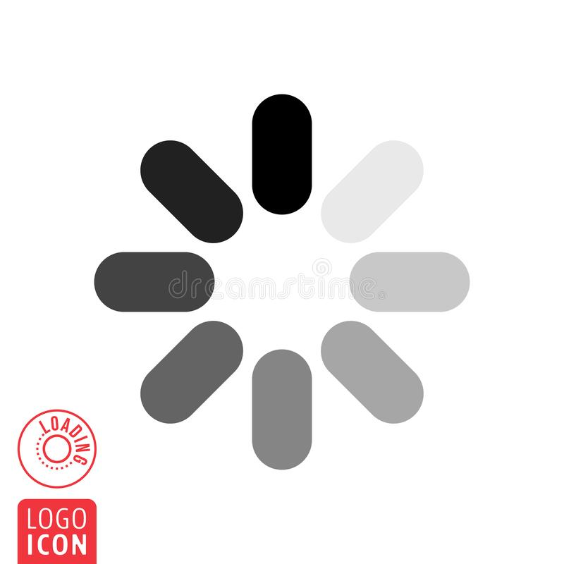 Loading icon on white background.Loading icon on white background. Load data symbol stock illustration