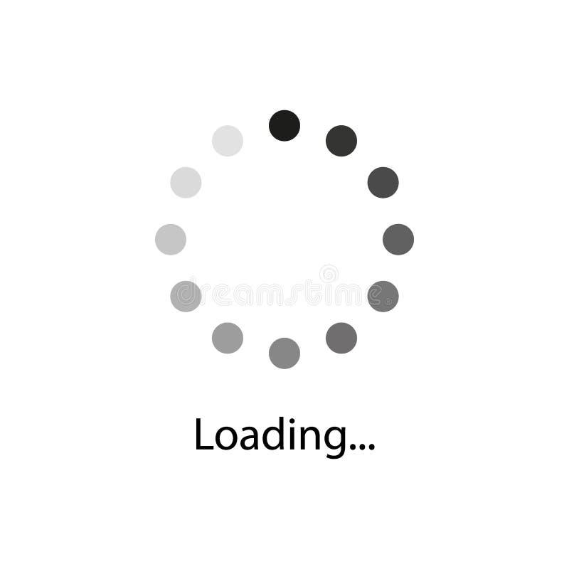 Loading indicators vector icon set. Web icons, for web page royalty free illustration