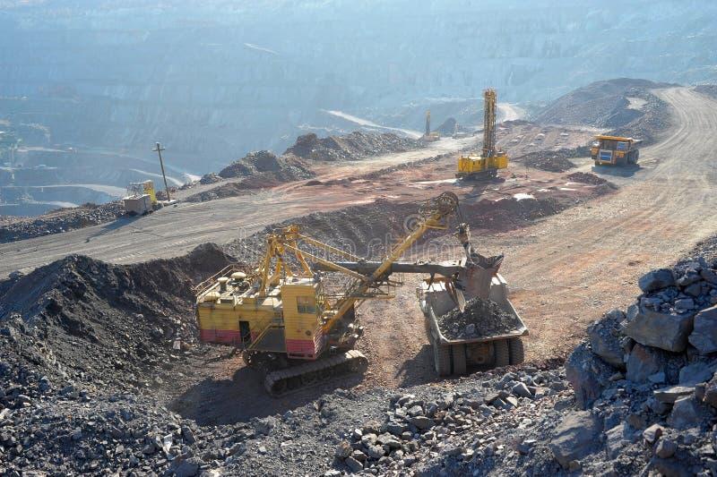 Loading of iron ore royalty free stock photos