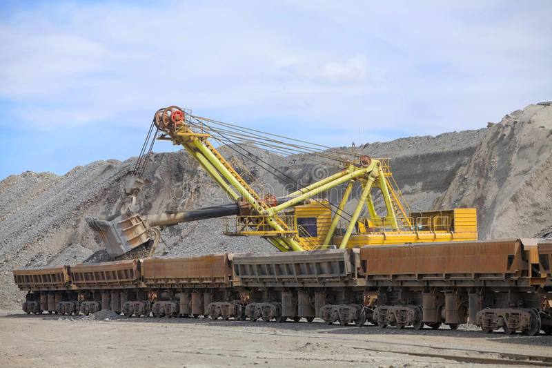 Download Loading of iron ore stock photo. Image of delivery, minerals - 30658576
