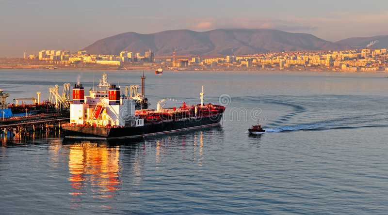 Download Loading oil tanker stock image. Image of russia, transportation - 7702283