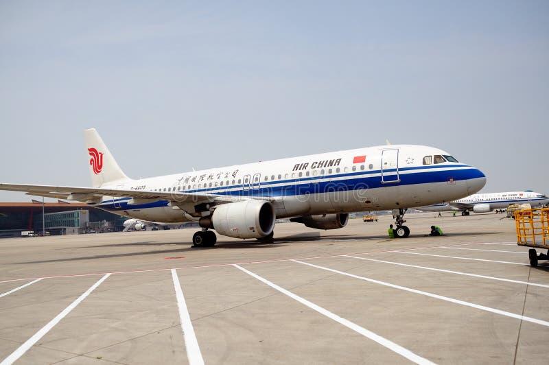 Loading the plane stock image