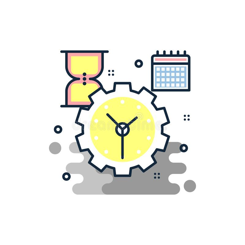 Loading process icon. Element of business icon for mobile concept and web apps. Colored loading process icon can be used for web a. Nd mobile on white background royalty free illustration