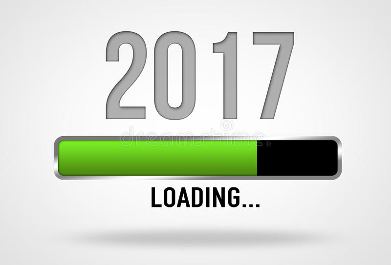 2017 loading. Progress bar illustration royalty free illustration