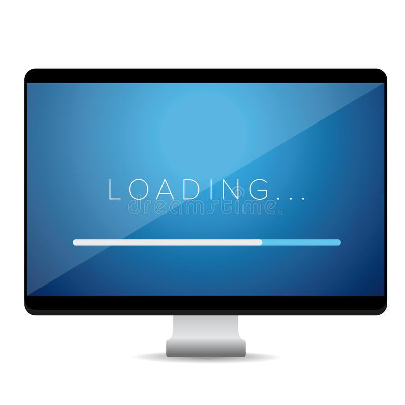 Loading progress bar stock illustration