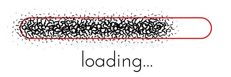 Loading progress indicator. Black creative scale. Vector background stock illustration