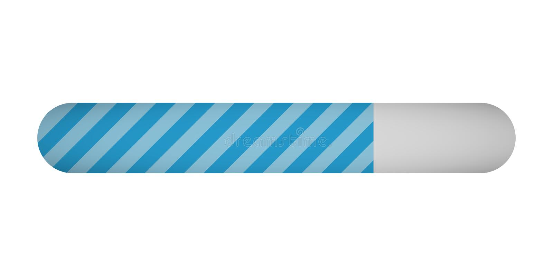 Loading progress status bar on white background stock illustration