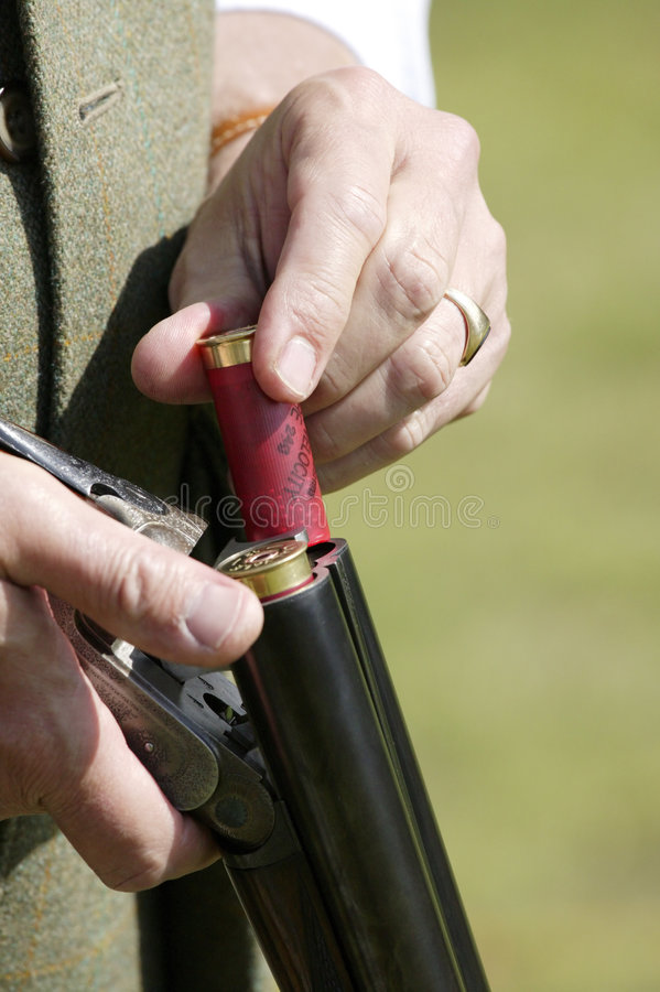 Loading Purdy Shot Gun royalty free stock photo