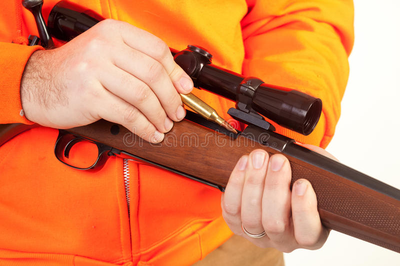 Download Loading the Riffle stock photo. Image of tool, over, hunter - 13043412