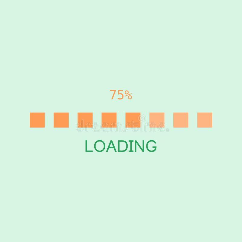 Loading Screen royalty free stock photography