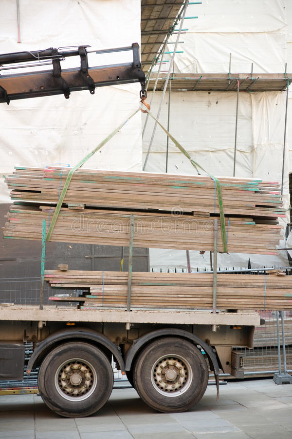 Download Loading A Truck At A Building Site Stock Image - Image: 14221487