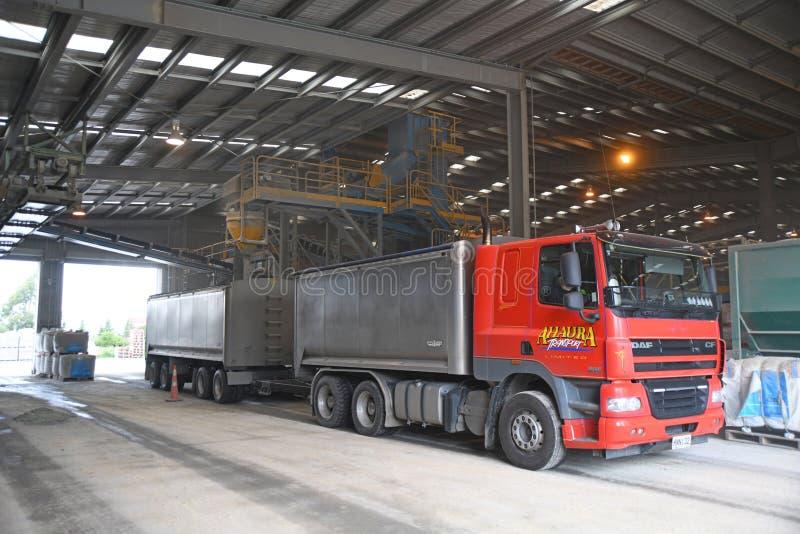 tip truck loading up with fertiliser royalty free stock image