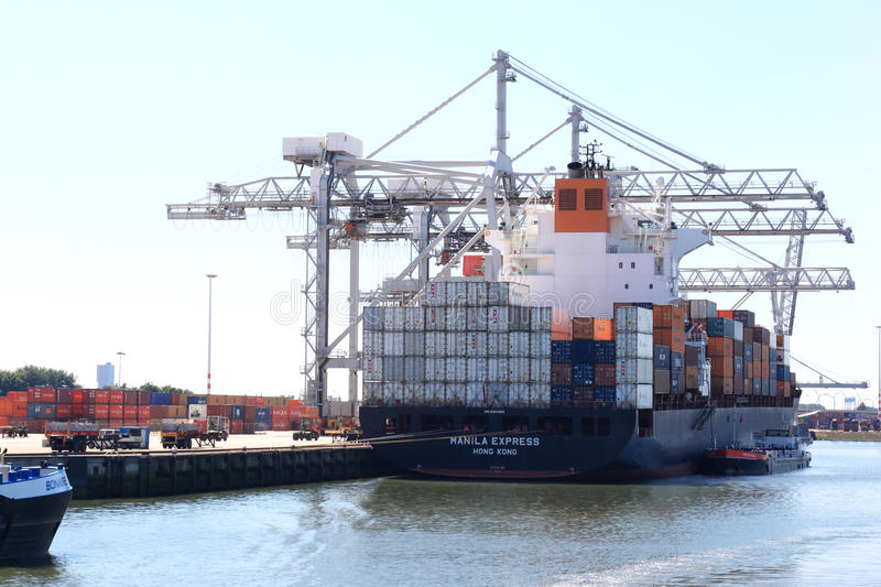Download Loading A Vessel In Rotterdam Port, The Netherlands Editorial Image - Image of active, bank: 43662920