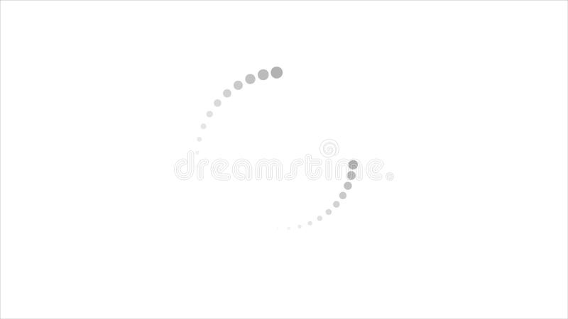 Loading Waiting Circle Symbol Element Video Animation Stock Video