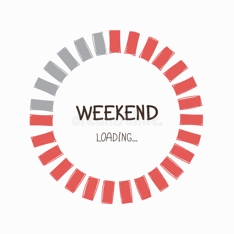 Loading weekend Progress Bar. royalty free illustration