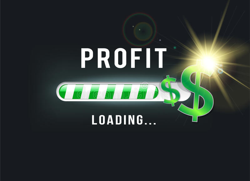 Loading your Dollar profit royalty free illustration