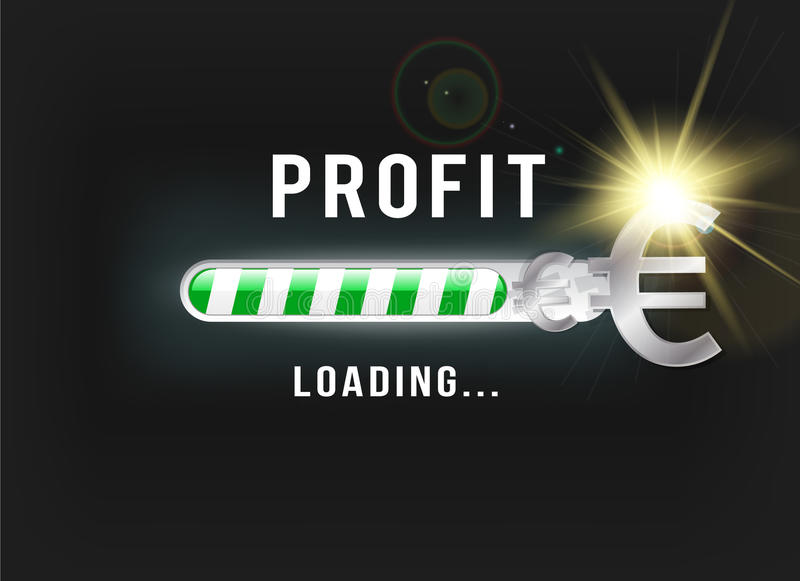 Loading your Euro profit royalty free illustration
