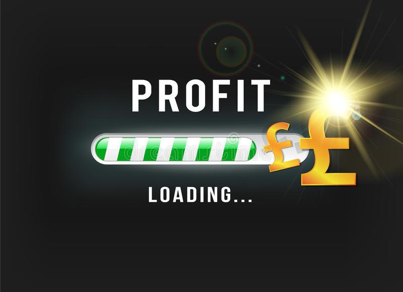 Loading your Pound profit stock illustration