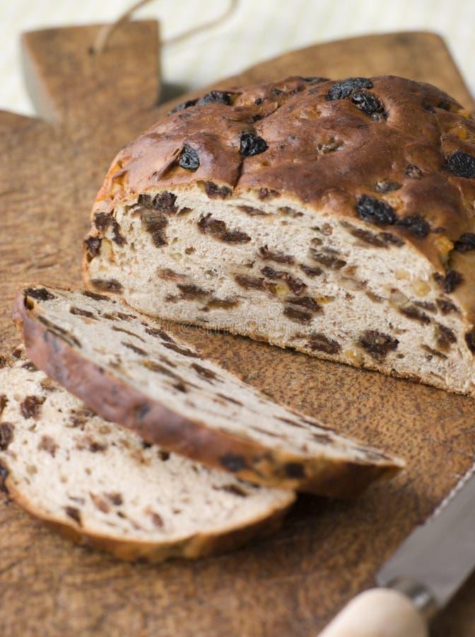 Loaf of Barm Brack royalty free stock photos