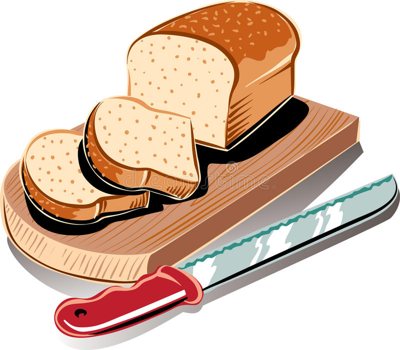 Loaf of bread from the box, stock illustration