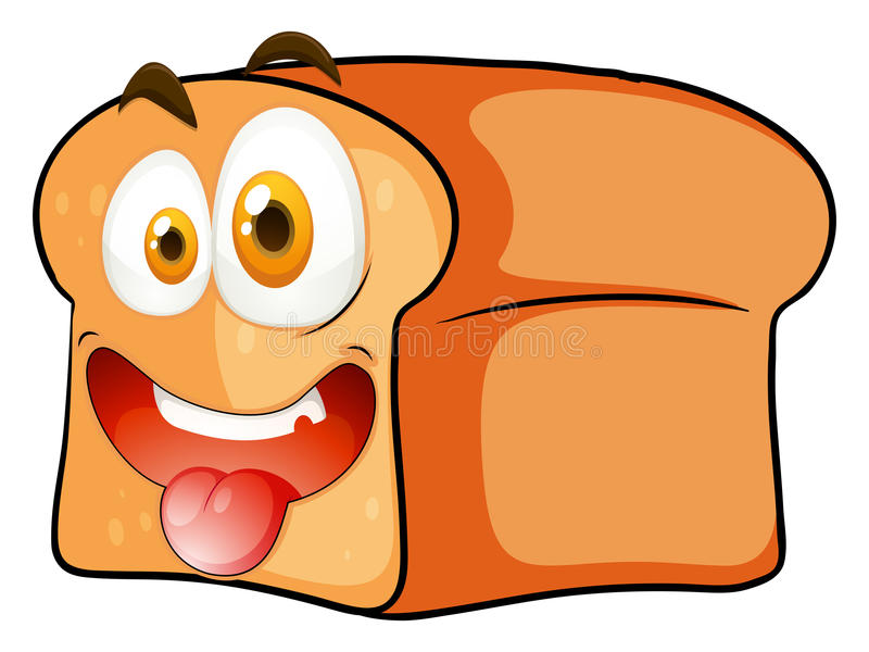 loaf of bread with face stock vector illustration of drawing 57657697 rh dreamstime com Cartoon Loaf of Bread Done cartoon loaf of bread stick of butter