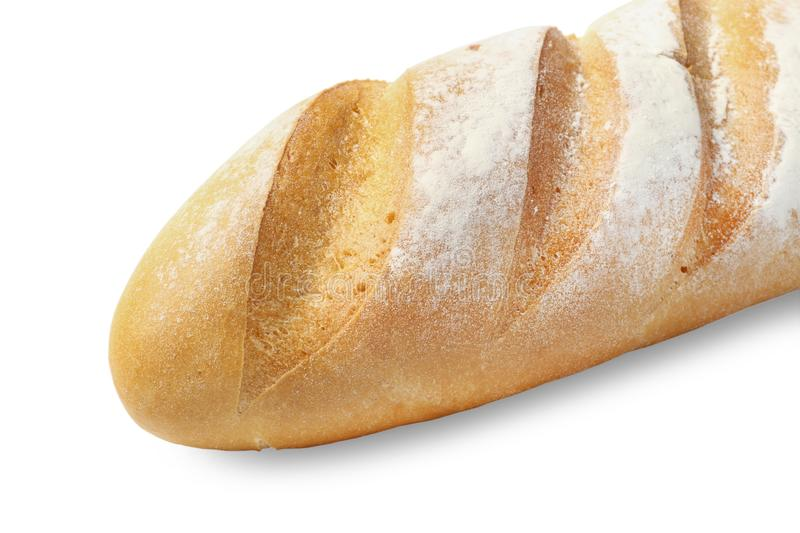 Loaf of bread. Close up isolated on white stock illustration
