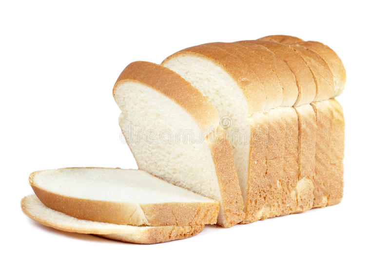 Loaf bread on white stock image