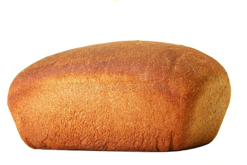 Loaf of bread whole wheat stock photo