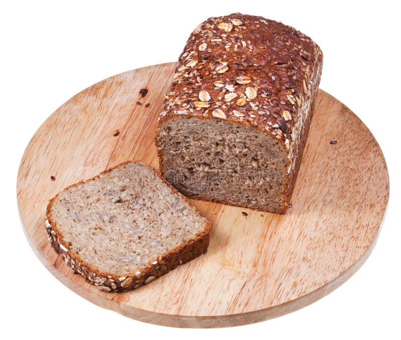 Download Loaf of grain bread stock photo. Image of brown, board - 32028000