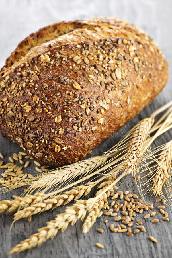 Loaf of multigrain bread royalty free stock images