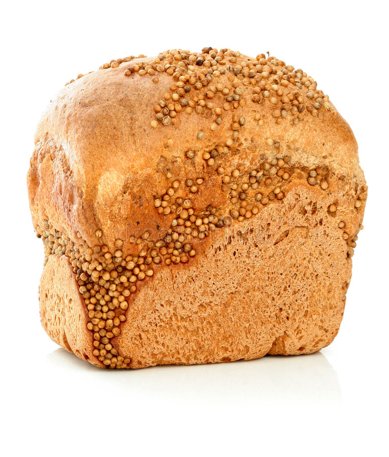 Free Loaf Of Rye Bread On White Stock Photos - 3584353