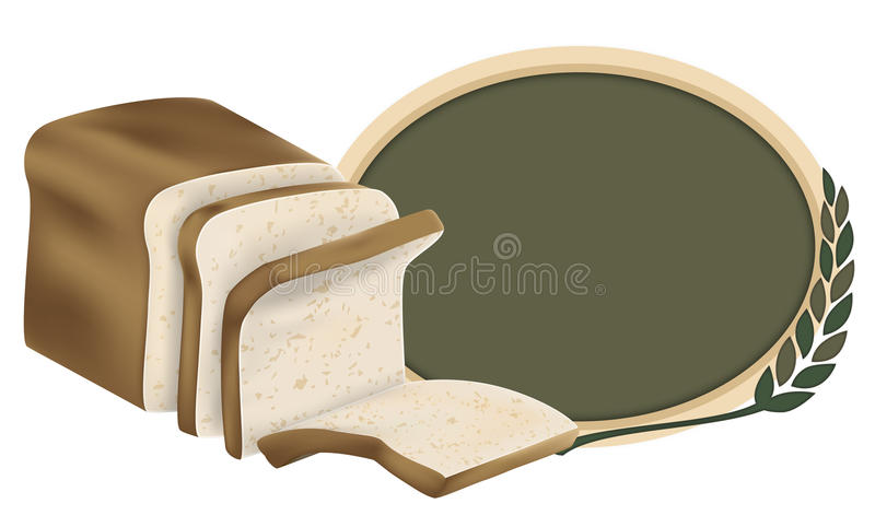 Loaf of Whole Grain Wheat Bread Logo Design royalty free stock image
