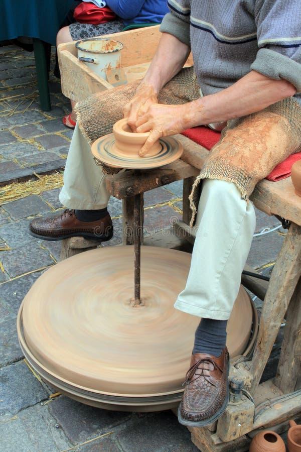 Loam pottery royalty free stock photo