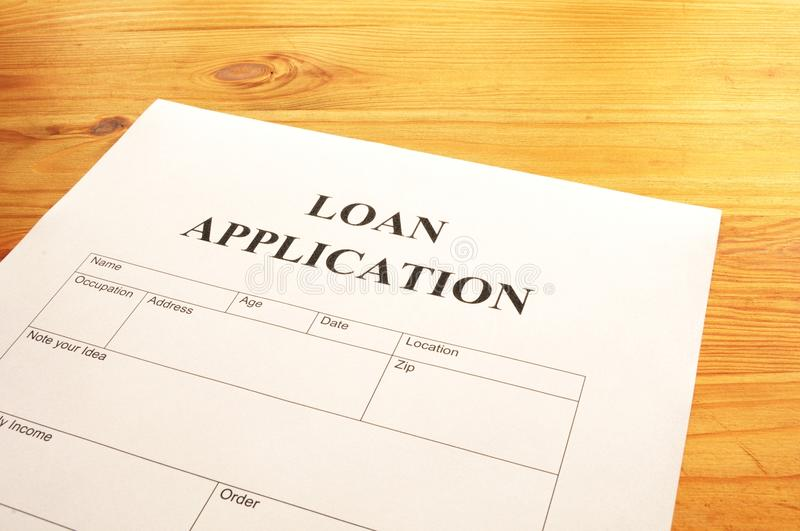 Loan Application Stock Image