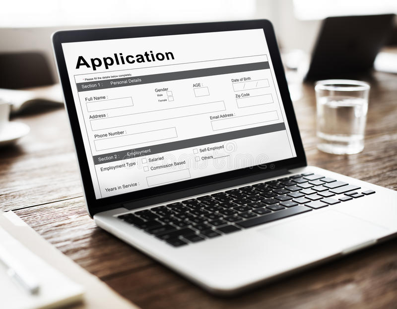 Loan Application Mortgage Money Concept stock images