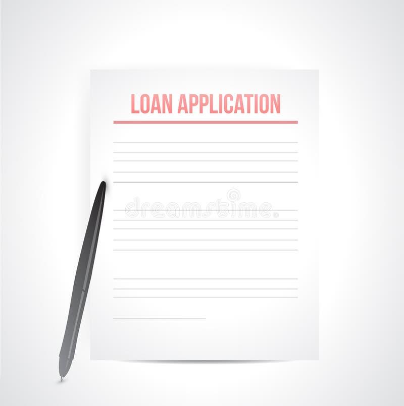 Loan application paperwork illustration. Over a white background vector illustration