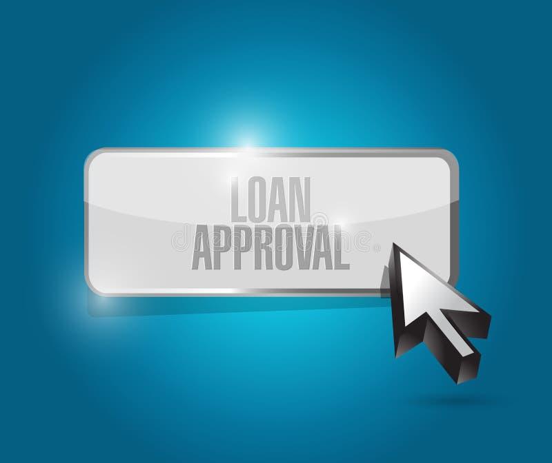 Loan approval button illustration design royalty free illustration