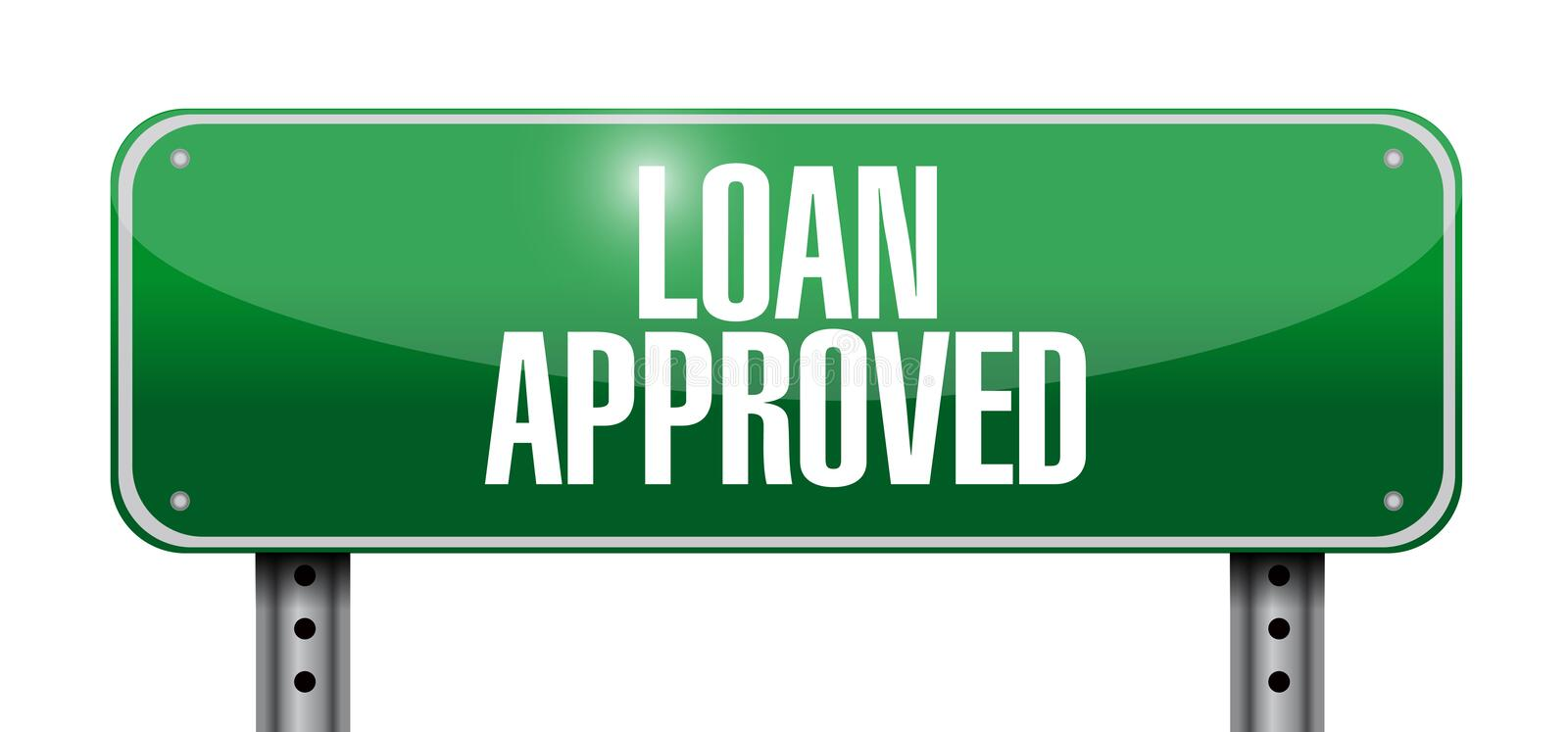 Loan approved sign illustration design vector illustration