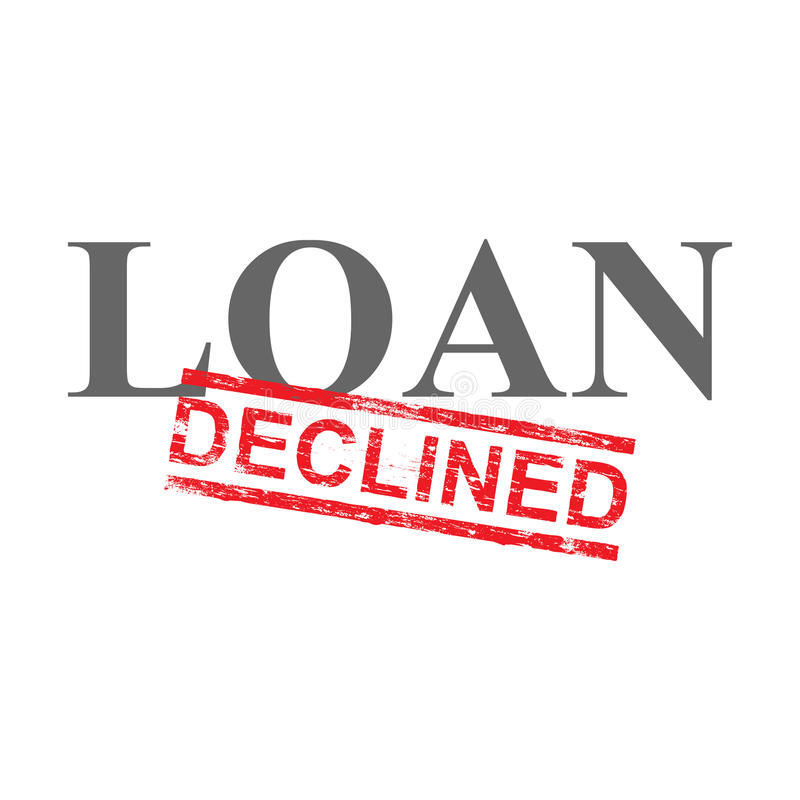 Loan Declined Word Stamp royalty free illustration