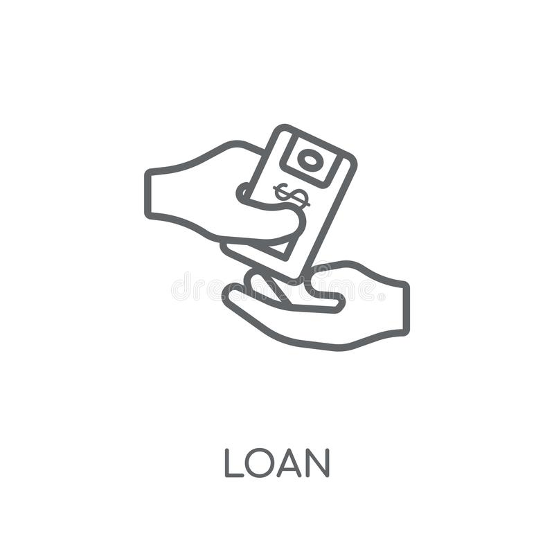 Loan linear icon. Modern outline Loan logo concept on white back royalty free illustration