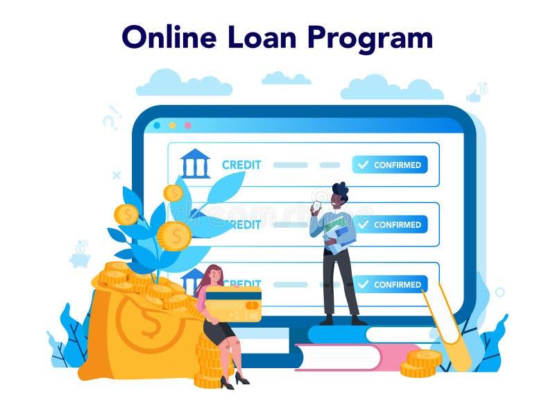 Loan Manager Online Service Or Platform. Bank Employee That Work Stock  Vector - Illustration of online, clerk: 184129904