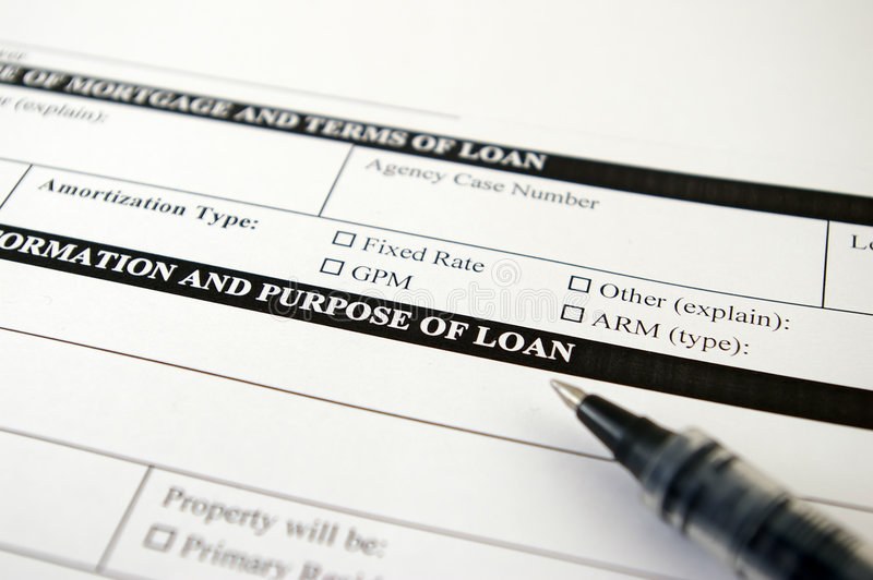 Loan Request Form Royalty Free Stock Photos - Image: 1944548