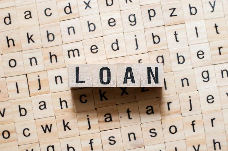 Loan word concept royalty free stock image