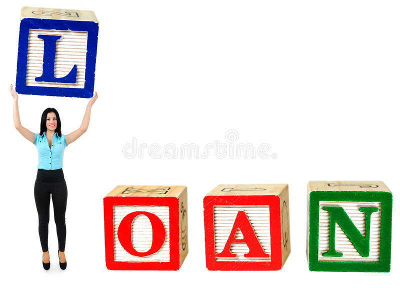 Loan word royalty free stock photo