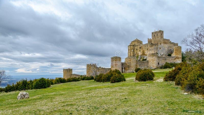 Loarre Castle Castillo de Loarre Huesca στην επαρχία Αραγονία Ισπανία στοκ εικόνες με δικαίωμα ελεύθερης χρήσης