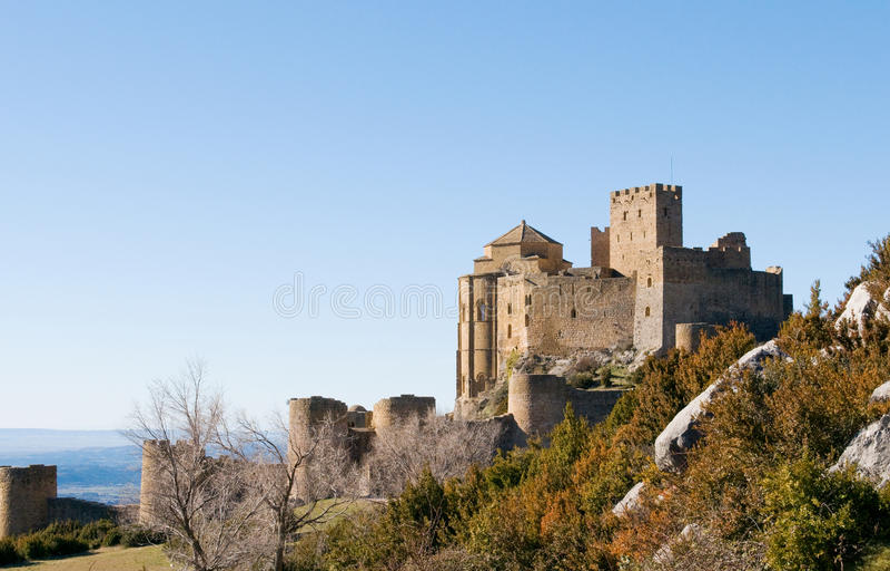 Loarre Castle, Huesca, επαρχία Σαραγόσα, Arragon, Ισπανία στοκ εικόνες με δικαίωμα ελεύθερης χρήσης
