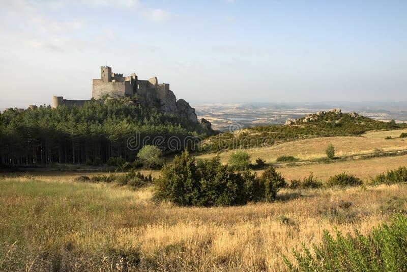 Loarre Kasteel, Aragon, Spanje stock afbeelding