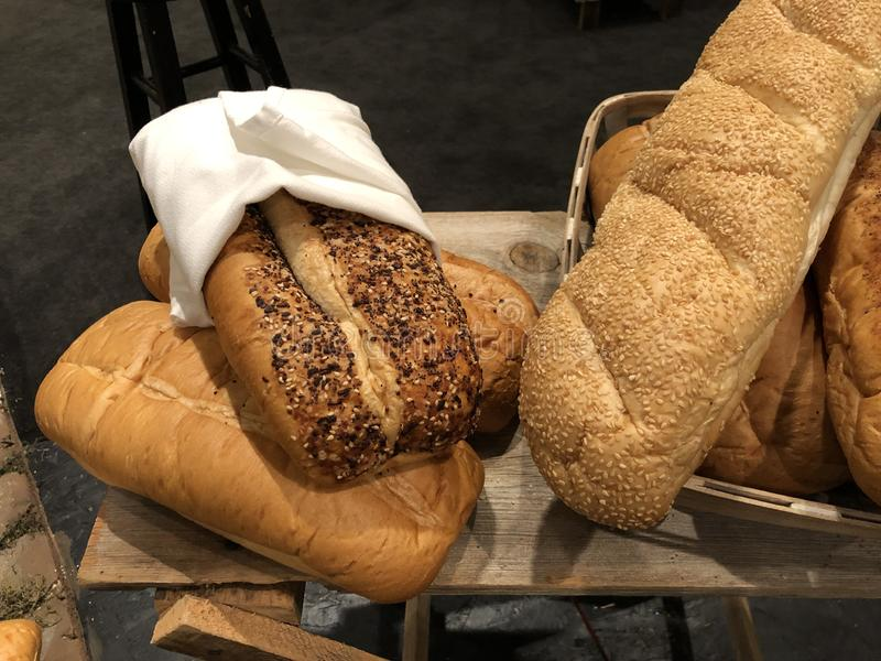 Loaves of freshly baked bread royalty free stock photography
